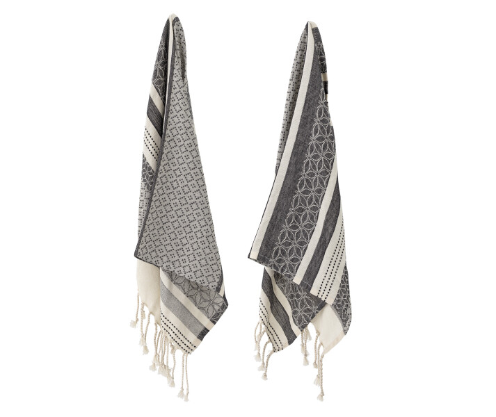 Grey Kitchen Towel harmaat keittiopyyhkeet Bloomingville kuva